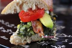 Callaloo Avocado and more...on a Toasty Baguette