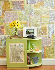 Riciclare vecchia cartina geografica! 20 idee creative…