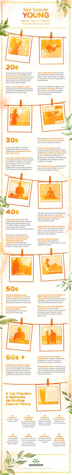 Feel Forever Young: Health Tips for Every Age - infographic