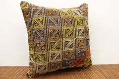 Cicim pattern Kilim pillow cover 20x20 inches by stripepattern