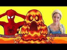 THE FLOOR IS LAVA CHALLENGE ! w/ SPIDERMAN & FROZEN ELSA & PEKINGESE DOG...