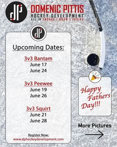 Happy Fathers Day!!! With a great first week of 3 on 3's behind us, we look forward to those sessions still to come. If you missed the first ice slot, there is nothing to worry about. Register for individual sessions at: www.dphockeydevelopment.com#EngageGrowThrive #hockeydevelopment #DPHD #bayareahockey #LTAD #AAAHOCKEY #hockeyskills #youthhockey #Norcalhockey #summerhockeycamp #hockeytraining