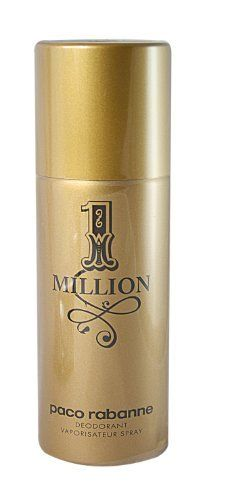PACO RABANNE 1 MILLION by Paco Rabanne for MEN: DEODORANT SPRAY 5 OZ by Paco Rabanne. $35.00. Recommended Use: casual. Design House: Paco Rabanne. Fragrance Notes: Mint, Grapefruit, Rose, Patchouli, Amber, Cinnamon, White woods, Blond leather, Blood orange, Spice notes. PACO RABANNE 1 MILLION by Paco Rabanne for MEN DEODORANT SPRAY 5 OZ Launched by the design house of Paco Rabanne in 2008, PACO RABANNE 1 MILLION by Paco Rabanne possesses a blend of Mint, Grapefruit, Rose, Patc...