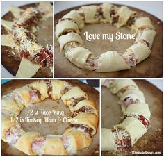 Freeze the filling and this will be ready whenever you need it. This is one of my kids' favorites. Amazing Taco Ring  at @10minutedinners.com #freezermeals #recipes