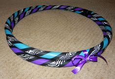 Custom Collapsible Zebra Print Hula Hoop  Design by HoopBunnyHoops, $25.95