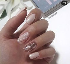 Fancy Nude Nails - Tips and ideas - Nails Art Ideas Chic Nails, Classy Nails, Stylish Nails, Best Acrylic Nails, Acrylic Nail Designs, Nail Manicure, Gel Nails, Pink Nails, Nagellack Design
