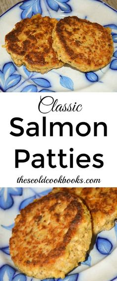 Classic Salmon Patties Recipe with Canned Salmon These Classic Salmon Patties are kid-approved and an easy weeknight entree for busy families who need to get dinner on the table quickly. Canned Salmon Patties, Canned Salmon Recipes, Fish Recipes, Seafood Recipes, New Recipes, Cooking Recipes, Favorite Recipes, Simple Salmon Patties Recipe, Recipies
