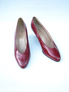 VTG Bally France Privilege Burgundy Leather Pumps by ZouZouArmoire, $24.00