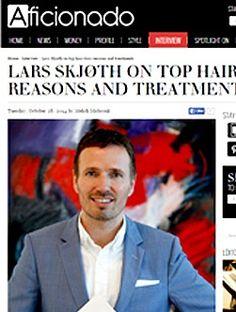 "Aficionado: ""Lars Skjøth on top hair loss reasons and treatments"" | Experiencing hair loss or thinning hair? Visit harklinikken.com to see if the #Harklinikken #hair regrowth treatment is right for you. #Haarklinikken"