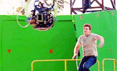 "Chris Evans on set of ""Captain America: Civil War"""