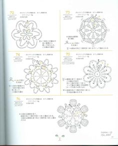Japanese Crochet Flowers - Graphics Plate 56