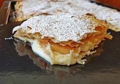 """1,342 """"Μου αρέσει!"""", 7 σχόλια - Απλές συνταγές βήμα βήμα (@aplessyntages) στο Instagram: """"Φανταστική μηλόπιτα με κρέμα βανίλιας για να σας πω καληνύχτα! Δείτε την συνταγή στο link του…"""" Apple Pie, Lasagna, Sweets, Bread, Ethnic Recipes, Desserts, Food, Instagram, Tailgate Desserts"""