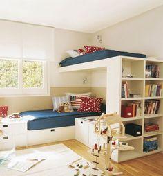 habitacion-compartida-hermanos-muebles-funcionales