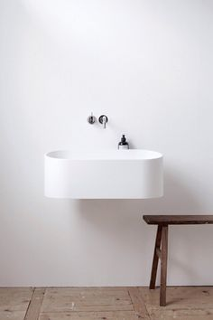 minimal & warm; not always found together (spa water room)