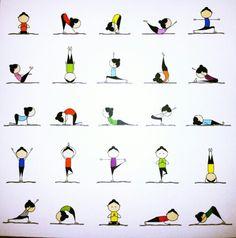 Cute Yoga Figures
