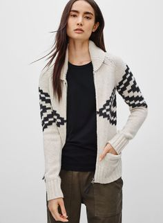 TNA SEA-TO-SKY SWEATER - <p>An intarsia-knit sweater with a decidedly Northwest Coast feel</p>