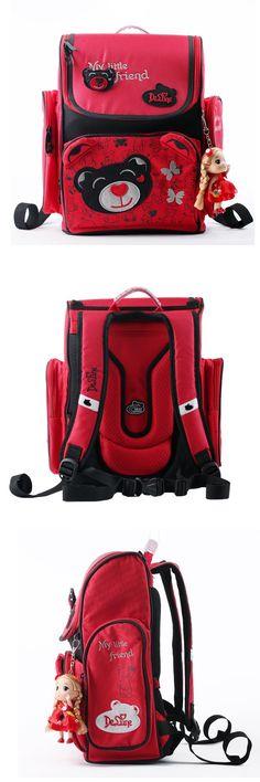 01b44cbf72d0  Visit to Buy  DELUNE Brand Cartoon Children School Bags for Girls  Orthopedic School Backpacks