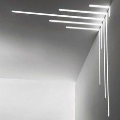 63 Awesome & Modern Led Strip Ceiling Light Design - Page 41 of 64 House Ceiling Design, Ceiling Design Living Room, Bedroom False Ceiling Design, Ceiling Light Design, Design Entrée, Lobby Design, Wall Design, Linear Lighting, Strip Lighting