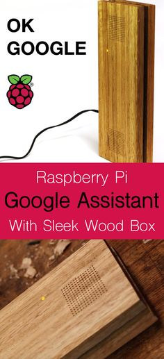 How to build a DIY Google AI Assistant using a Raspberry Pi, USB Speaker and USB microphone and how to make the sleek hardwood box it's housed in.