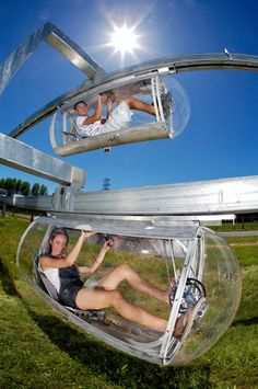 Google just awarded $1M to fund development of the 'schweeb' human powered monorail system. I'd love to try one of these!