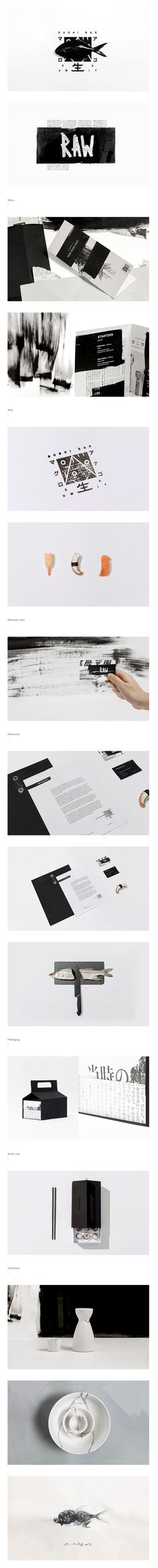 Sushi bar identity by Futura agency.