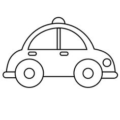 Simple car transportation coloring pages for kids, printable free ...
