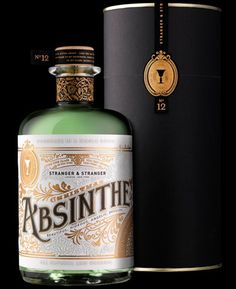 Absinthe bottle designed by Stranger and Stranger . *Previously: Beautiful absinthe bottle . Beverage Packaging, Brand Packaging, Packaging Design, Bottle Packaging, Pretty Packaging, Product Packaging, Branding Design, Tequila, Whisky