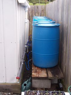 6 Barrel Rainwater Collection System
