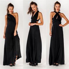 """Pandora's Box"" Multi Wear Maxi Dress One maxi dress with multiple ways of wearing it! Truly the most versatile piece ever! Brand new without tags. True to size. Bare Anthology Dresses Maxi"