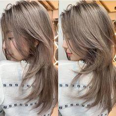 Hair Inspo, Hair Inspiration, Korean Hair Color, Long Shag Haircut, Hair Color And Cut, Trending Haircuts, Girl Haircuts, Aesthetic Hair, Grunge Hair