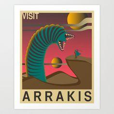 Visit Arrakis Art Print by Jazzberry Blue