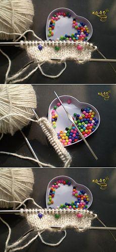 Вязание спицами с бусинами. Как вязать спицами с бусинами | Домоводство для всей семьи