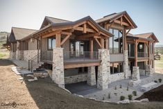 """Red Ledges Luxury Home Cameo Homes Inc. has just completed building this luxury home in Red Ledges, Heber, Utah. Red Ledges is the """"perfect blend of nature, amenities, residential choices and championship golf loc… Mountain Home Exterior, Dream House Exterior, Mountain Home Plans, Mountain Homes, Barn House Plans, Dream House Plans, Dream Home Design, My Dream Home, Home Inc"""