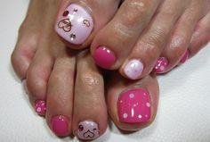 Cute toe nails.