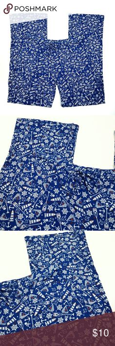 "Cynthia Rowley Pajama Pants Sleep Wear Anchors M Cynthia Rowley Size Medium Rayon Great preowned condition with no holes or stains  These pajama pants from Cynthia Rowley are super soft and comfortable.They feature a nautical print and a drawstring waist. They are perfect for lounging around the house.  Measurements laying flat: Waist:14.5"" Inseam:32""  Rise:8"" Cynthia Rowley Intimates & Sleepwear Pajamas"