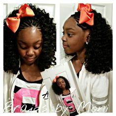 Crochet braids  www.styleseat.com/immonatriafortune  IG : for_the_love_of_moni Crochet Braids Hairstyles For Kids, Natural Hairstyles For Kids, Cute Girls Hairstyles, Kids Braided Hairstyles, Braids For Kids, Girls Braids, Crochet Hair Styles, Diy Hairstyles, Little Girl Braids