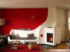 Дизайн дровяной печи для саманного дома.
