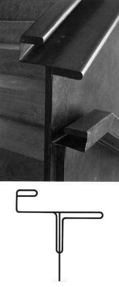 Alejandro de la Sota - Gobierno civil - Barandilla Staircase Handrail, Banisters, Staircase Design, Stair Railing, Stair Steps, Staircases, Vestibules, Stair Detail, Beautiful Stairs