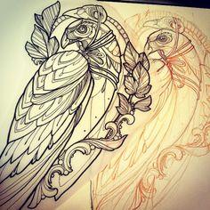 Hawk for @tattooconventioncagliari !! #hawk #tattoo #missjuliet
