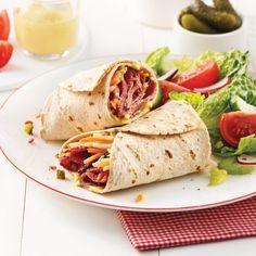 Sandwich chaud au boeuf - 5 ingredients 15 minutes