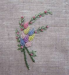 Jubilee Collection 2008 Ribbon Embroidery - Shade Only, Ivory Finish - Embroidery Design Guide Bullion Embroidery, Hand Embroidery Videos, Embroidery Flowers Pattern, Hand Embroidery Stitches, Silk Ribbon Embroidery, Hand Embroidery Designs, Beaded Embroidery, Brazilian Embroidery, Couture
