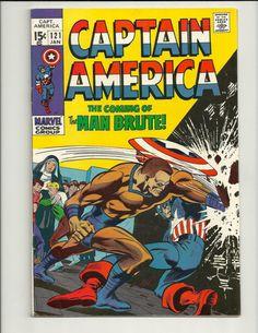 Captain America No.121 - Marvel Comic Book Jan 1970