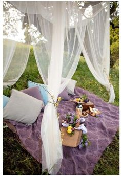 picnic tent - looks so romantic and relaxing