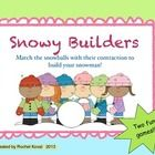 (contractions) Students will enjoy building snowmen while learning about contractions with this center game! Two options to play are given.   Packet includes:  Di...