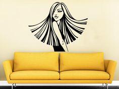 Vrouw muur sticker Vinyl Sticker Decals schoonheidssalon make-up meisje make-up gezicht Fashion cosmetische kappers Hair Decor slaapkamer interieur C454 door StylewithDecals op Etsy https://www.etsy.com/nl/listing/270136077/vrouw-muur-sticker-vinyl-sticker-decals