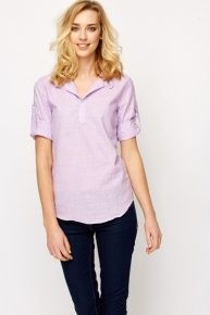 Rolled Sleeve Linen Shirt