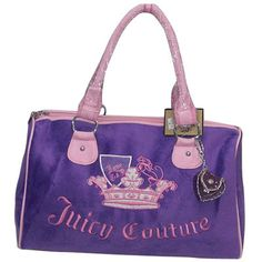 Juicy Couture Outlet | Juicy Couture Tote Bags charm Crown In Purple Pink