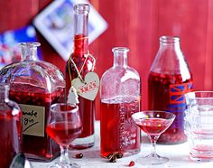 Spiced pomegranate gin @Shannon Bellanca Bieger - let's get together and make this.