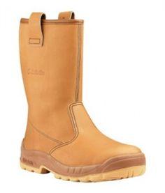 b2aaaa9c08b Jallatte Jalpole Tan Brown Slip On Safety / Work Gore-Tex Toecap Boots