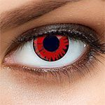 Channel your inner vampire with this Twilight inspired Volturi red contact lens.  Would add the perfect finish to any vampire costume.